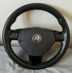 Vauxhall Astra H Vxr Steering Wheel Good Condition Airbag Piano Black Mk5
