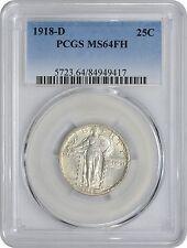 1918-D Standing Liberty Quarter MS64FH PCGS