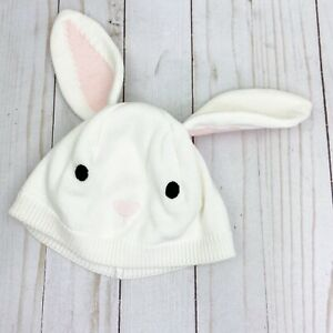 Gymboree HOOT & HOP Ivory Knit Bunny Ears Beanie HAT 12-24 m EASTER GIFT