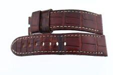 Genuine Officine Panerai Brown Alligator Leather Watch Strap Band 22MM