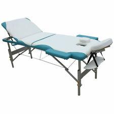 Massageliege 3 Zonen Massagebank Massagetisch Kosmetikliege weiß grün Tasche