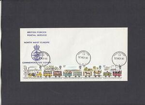 1980 Railways British Forces Postal Service N.W. Europe FDC Forces P.O. 13 CDS