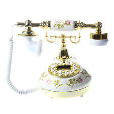 5X(Antikes Designer Telefon Nostalgie Fernrohr uralt Telephon aus Keramik A GP