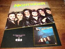 NIGHTRIDER - PUBLICITE SUR DISQUE !!!!!!!!!!!!!!!!!