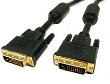 6Ft. DVI-I Dual Link (24+5) Male to Male Digital/Analog Video Cable w/Ferrites