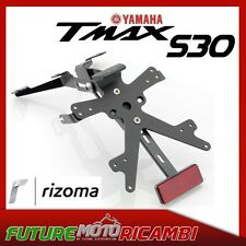 PORTATARGA ALLUMINIO YAMAHA T-MAX 530 2012-2015 + LUCE TARGA+CATADIOTTRO RIZOMA
