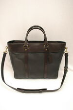 NWT COACH Men Crosby Leather Business Tote #70715 Black