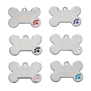 Stainless Steel Custom Diamond Engraved Pet Id Dog Tag Free Shipping
