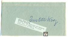 First Day Cover Signed by Jens Otto Krag Former Prime Minister of Denmark.