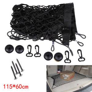 Car Accessories Rear Trunk Boot Floor Cargo Net Elastic Mesh Storage Fixed Set