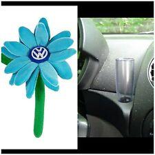 1998- 2010 VW NEW Beetle Plush   Carolina Blue Daisy Flower, & 1 Clear Vase NEW!