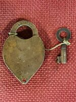 BOSTON AND MAINE RAILROAD  LOCK PADLOCK !!