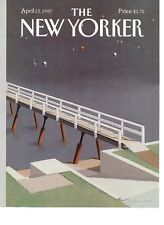 NEW YORKER MAGAZINE ORIGINAL COVER DATED 13TH APRIL 1987 BY G D SIMPSON