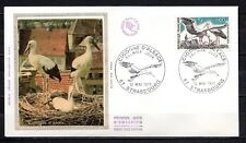 France - 1973 Protection of nature / Stork -  Mi. 1831 FDC (silk)