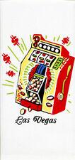 VTG Style LAS VEGAS NV Nevada Souvenir KITCHEN Dish Tea Hand Towel Slot Machine
