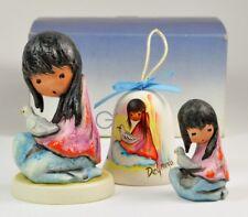 Goebel De Grazia White Dove Figurines Bell Porcelain Signed
