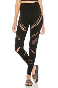 Alo Yoga Seamless Radiance Black High Waist Athletic Leggings Size S