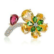 Blumen Brosche Cubic Zirkonia (Künstliche Diamanten) Mode Elegant