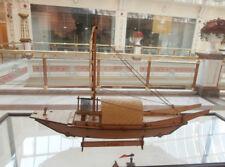 Wooden china canvas boat Taihu fishing boat model ship kit