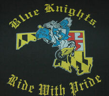 Rare BLUE KNIGHTS MARYLAND T Shirt POLICE MOTORCYCLE CLUB Cop BALTIMORE Harley