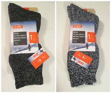 2 Men's TRUFIT Black Grey Heavy Merino Wool Wicking Socks~10-15~Shoe Size 7-12