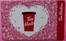 2021 TIM HORTONS VALENTINE HEART GIFT CARD ~NEW/BILINGUAL ~FREE ship ~FD100625