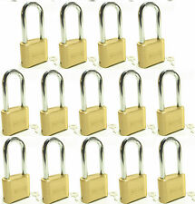 Lock Brass Master Combination #175LH (Lot of 14) Long Shackle Resettable Secure