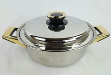 "Tupperware Cookware Rainbow Cooker 2 Handle Saucepan Pot Skillet 10"" Gold Tone"