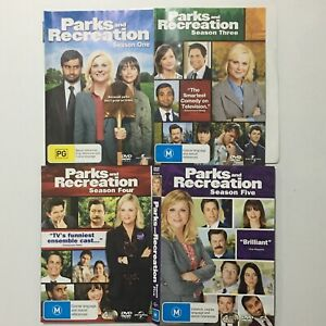 Parks And Recreation : Season 1 3 4 5 DVD 12 Discs Region 2 4 FREE TRACKED POST