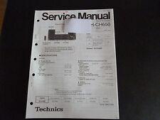 ORIGINALI service manual TECHNICS CD STEREO SYSTEM sa-ch550