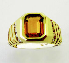 14KT YELLOW GOLD LADIES AWESOME! CITRINE AND DIAMONDS RING (17289R)