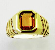 14KT YELLOW GOLD LADIES AMAZING! CITRINE AND DIAMONDS RING (17289R)