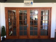 SOLID CEDAR, COLONIAL FRENCH BIFOLD DOORS, WITH PLEATED FLY SCREEN, IN STOCK