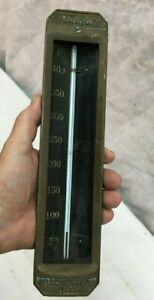 Antique Vintage Taylor  Industrial Salvage  Brass Thermometer Steampunk Works!