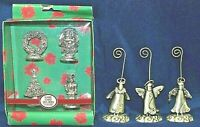 CHRISTMAS Name Card Holders Lot of 7 Figures Angels-Tree-Santa-Nutcracker-Wreath