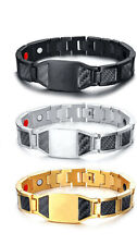 New Men Health Magnet Therapy Bracelet Energy Carbon Fiber Chain  Gift