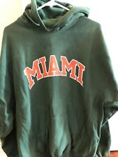 NWOT heavy Weight Miami Hurricanes Cotton Blend Hoodie/S&B/large