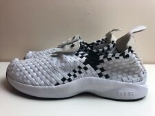 Nike Woven Scarpe Da Uomo Air Bianco Nero UK 7 EUR 41 312422 100