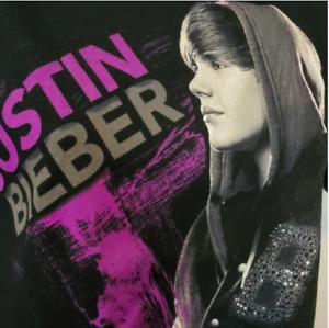 Justin Bieber Black Graphic T shirt Size XS Bay Island Cotton