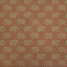 White Elephant Pattern Pink Premium Kraft Roll Gift Wrap Wrapping Paper