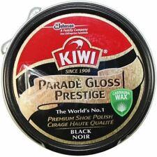 2 Kiwi Shoe Polish Parade Gloss Prestige Tin Shiner Leather Protector Boot BLACK