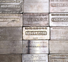 100 Ounce Engelhard .999 Fine Silver Bar 100oz.