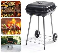 """Outdoor Grill 17.5"""" Charcoal Backyard Portable BBQ with Wheels 16-burger Cooking"""