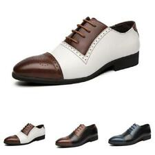 Men Business Leisure Faux Leather Shoes Work Oxfords Pointy Toe Office Lace up L