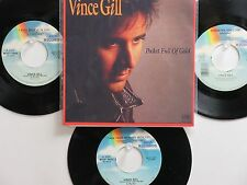 LOT OF 4 ' VINCE GILL ' HIT 45's+1P(Copy)[Pocket Full Of Gold]     THE 90's!
