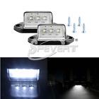2x 3 LED License Plate Tag Light Boat RV Truck Trailer Lamp Xenon White 12/24V