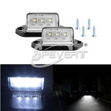 2x Placa de número de licencia de 3 LED luz para carro remolque barco blanco 12V
