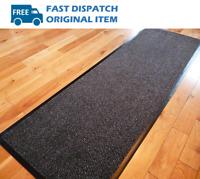 NEW Large Hall Carpet Runner Hallway Rug Barrier Mat Dirt Stopper Non Slip Black