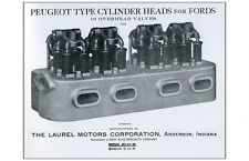 Hot Rod Poster 11x17 Peugeot type 16 cylinder head motor ford Laurel corp racing