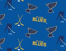 St. Louis Blues Fleece Fabric-NHL Fleece Blanket Fabric By The Yard-A/O